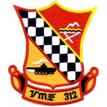 VMF-312 Fighter Squadron Three One Two Patch Checkboarders