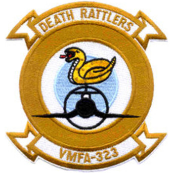 VMFA-323 Marine Fighter Attack Sqaudron Patch - Death Rattlers