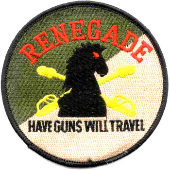 4th Sqaudron 3rd Aviation Cavalry Regiment R Troop Patch - Have Guns Will Travel