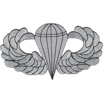 Airborne Basic Jump Wings Badge 5 inch Patch