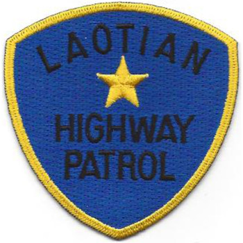 Laotian Highway Patrol Patch - Version A