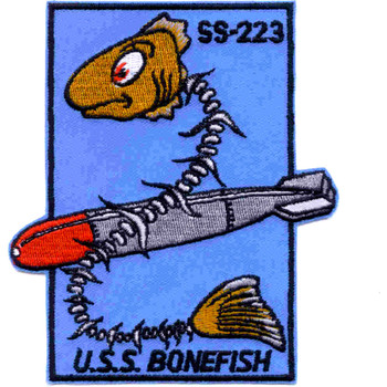 SS-223 USS Bonefish Patch - Version A