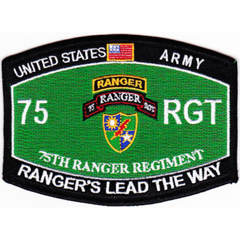 75th Ranger Regiment Crest MOS Rating Patch