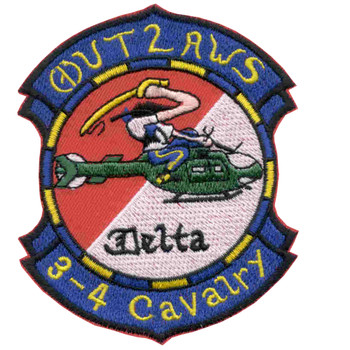4th Squadron 3rd Aviation Cavalry Regiment Patch - Version B