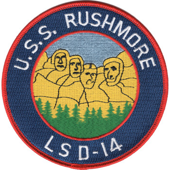 USS Rushmore LSD-14 Patch