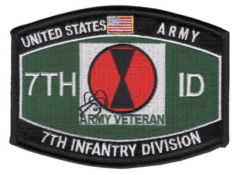 7th Infantry Division Military Occupational Specialty MOS Patch