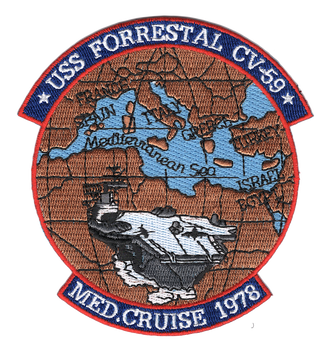 USS Forrestal CV-59 Med. Cruise 1978 Patch