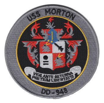 DD-948 USS Morton Ship Patch
