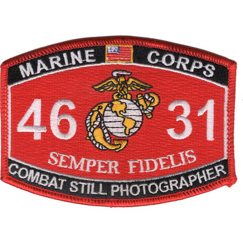 4631 Combat Still Photographer MOS Patch
