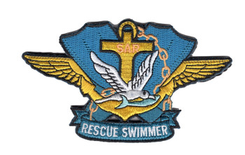 SAR Search & Rescue Swimmer Badge Hook and Loop Patch