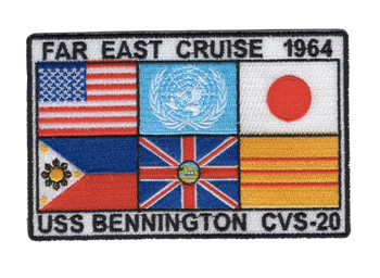 USS Bennington CVS-20 Far East Cruise 1964 Patch