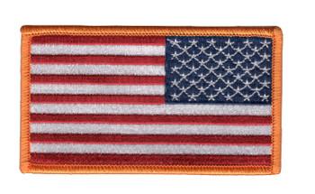 Mil-Spec United States Reverse Flag Hook & Loop 2.25 x 4.00 Patch