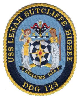 USS Lenah Sutcliffe Higbee DDG 123 Patch
