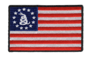 Betsy Ross Flag and Snake Patch