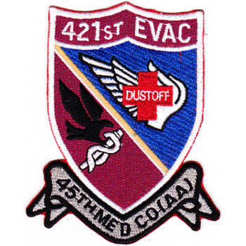 421st Medical Company Air Ambulance Evac 159th Aviation Regiment Patch