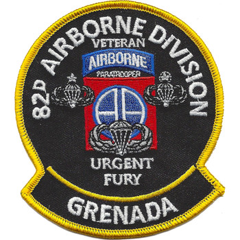 82nd Airborne Division Urgent Fury Grenada Patch