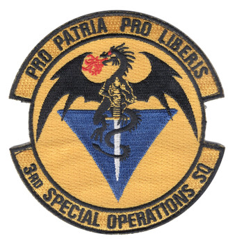 3rd Special Operations Squadron Patch Hook And Loop