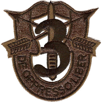 3rd Special Forces Group Crest OD Green Black 3 Patch