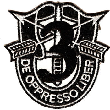 3rd Special Forces Group Crest Black 3 Patch