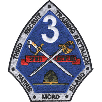 3rd Recruit Training Battalion at Parris Island MCRD Patch