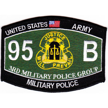 3rd Military Police Group Military Occupational Specialty MOS Rating Patch 95 B Military Police