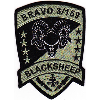 3rd Attack Recon Battalion 159th Aviation Regiment Bravo Company Patch ACU