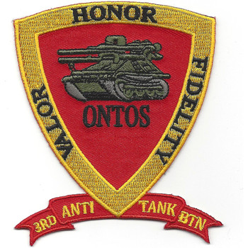 3rd Anti Tank Battalion Valor Honor Fidelity Patch