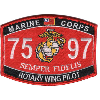 7597 Rotary Wing Pilot MOS Patch