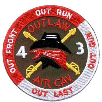 4th Battalion 3rd Aviation Cavalry Regiment Patch - Version B