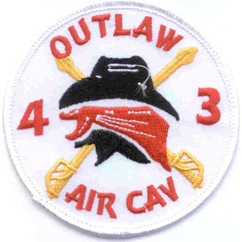 4th Battalion 3rd Aviation Cavalry Regiment Patch Outlaw