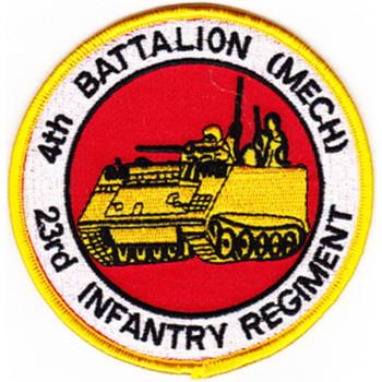 4th Battalion 23rd Infantry Regiment (Mech) Patch