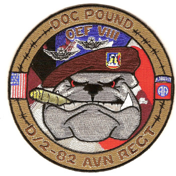 2nd Squadron 82nd Aviation Regiment D Company Patch