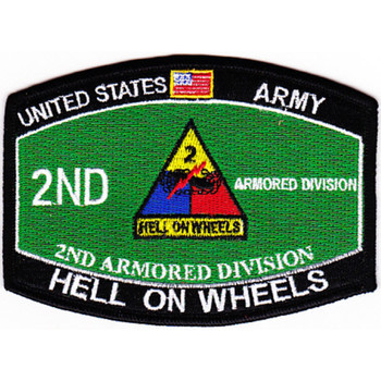 2nd Armored Division Military Occupational Specialty MOS Patch
