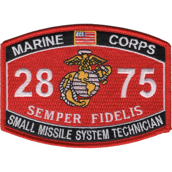 2875 Small Missile System Technician MOS Patch
