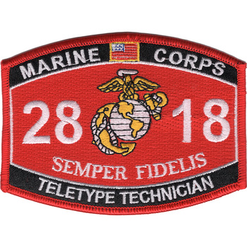 2818 Teletype Technician MOS Patch