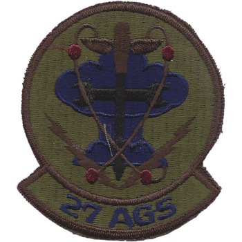 27th Aircraft Generation Squadron Subdued Patch