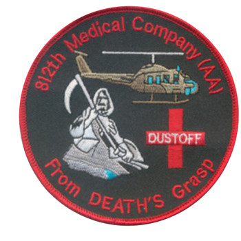 812th Aviation Medical Company Air Ambulance Dustoff Patch - From Deaths Grasp