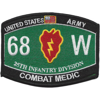 25th Infantry Division Military Occupational Specialty MOS Patch 68W Combat Medic