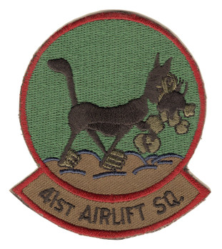 41st Airlift Squadron OD Patch Hook And Loop