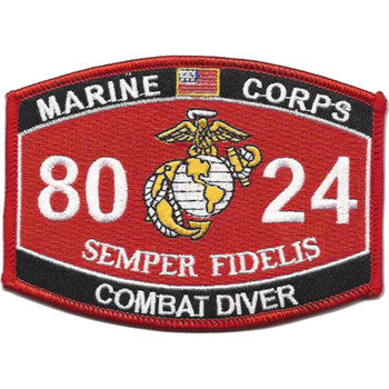 8024 Combat Diver MOS Patch