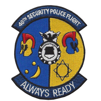 40th Security Police Flight Patch