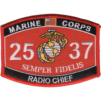 2537 Radio Chief MOS Patch