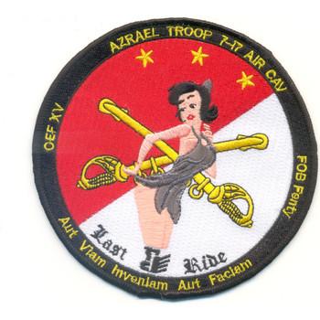 7th Squadron 17th Cavalry Regiment Azrael Troop Patch