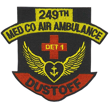 249th Medical Company Detachment 1 Aviation Air Ambulance Dustoff Patch