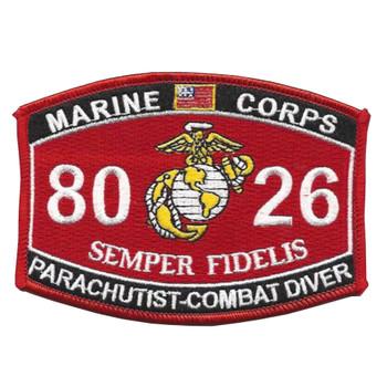 8026 Parachutist-Combat Diver MOS Patch