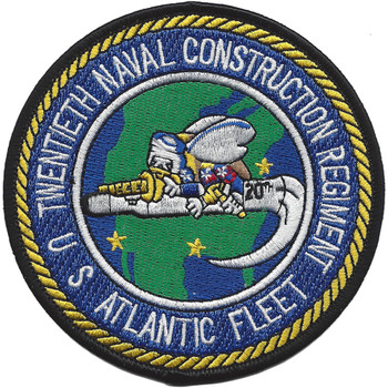 20th Naval Construction Regiment Atlantic Fleet Patch