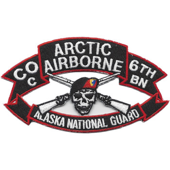 207th Airborne Infantry Group C Company 6th Battalion Patch