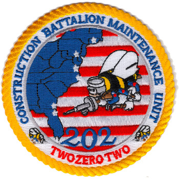 202 CBMU Construction Battalion Maintenance Unit Patch