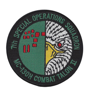 7th Special Operations Squadron MC-130H Combat Talon II Patch