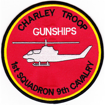 1st Squadron Charlie Company 9th Cavalry Regiment Patch